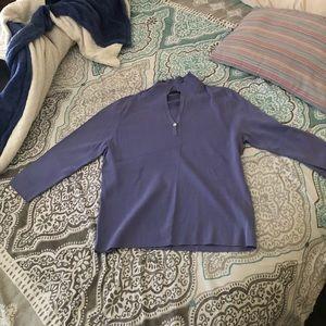 NWOT purple three quarter sleeve T-shirt